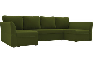П-образный диван Гесен Зеленый (Микровельвет)