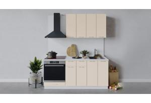 Кухонный гарнитур «Весна» длиной 180 см со шкафом НБ (Белый/Ваниль глянец)