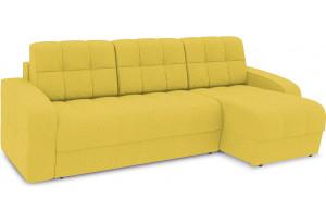 Диван угловой правый «Аспен Т1» (Neo 08 (рогожка) желтый)