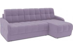 Диван угловой правый «Аспен Slim Т1» (Neo 09 (рогожка) фиолетовый)