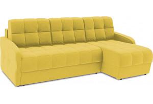 Диван угловой правый «Аспен Slim Т1» (Neo 08 (рогожка) желтый)