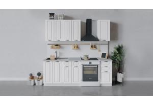 Кухонный гарнитур «Лина» длиной 160 см (Белый/Белый)