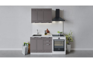 Кухонный гарнитур «Долорес» длиной 100 см (Белый/Муссон)