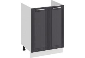 Шкаф напольный с двумя дверями (под накладную мойку) «Ольга» (Белый/Графит)