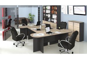 Набор офисной мебели для кабинета руководителя №3 «Успех-2» Венге Цаво, Дуб Сонома