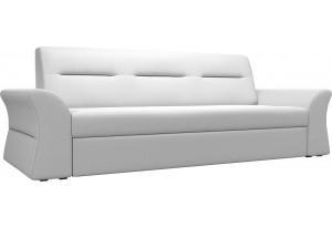 Прямой диван Клайд Белый (Экокожа)