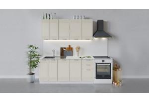 Кухонный гарнитур «Долорес» длиной 180 см (Белый/Крем)