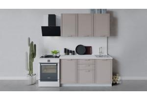 Кухонный гарнитур «Ольга» длиной 150 см (Белый/Кремовый)