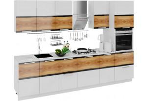 Кухонный гарнитур длиной - 300 см (с пеналом ПБ) Фэнтези (Вуд)