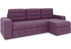 Диван угловой правый «Райс Т1» (Kolibri Violet (велюр) фиолетовый)