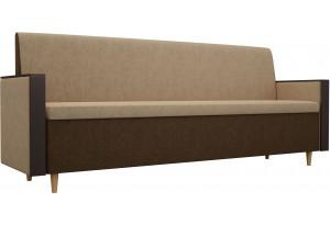 Кухонный прямой диван Модерн Бежевый (Микровельвет)