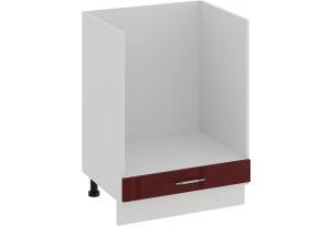 Шкаф напольный под бытовую технику «Весна» (Белый/Бордо глянец)