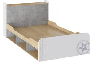Кровать «Мегаполис» Бунратти/Белый с рисунком