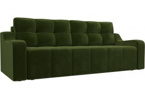 Прямой диван Итон Зеленый (Микровельвет)