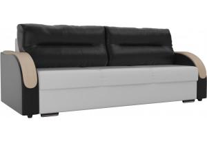 Прямой диван Дарси Белый/Черный (Экокожа)