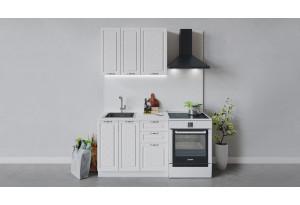 Кухонный гарнитур «Бьянка» длиной 100 см (Белый/Дуб белый)