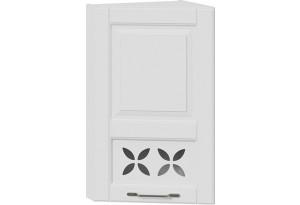 Шкаф навесной торцевой c декором (СКАЙ (Белоснежный софт))