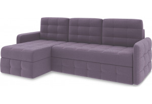Диван угловой левый «Райс Slim Т1» Neo 09 (рогожка) фиолетовый