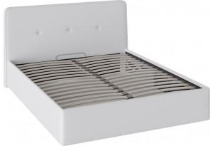 Кровать «Синди» с мягкой обивкой и подъемным механизмом тип 1 (Белая)