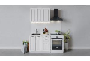 Кухонный гарнитур «Лина» длиной 100 см (Белый/Белый)