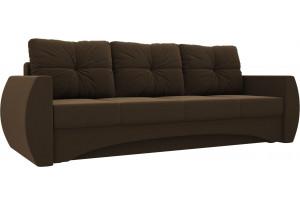 Прямой диван Сатурн Коричневый (Микровельвет)