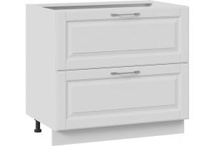 Шкаф напольный с 2-мя ящиками (СКАЙ (Белоснежный софт))