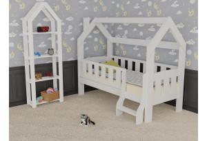 Кровать детская «Домик Сказка» с лестницей