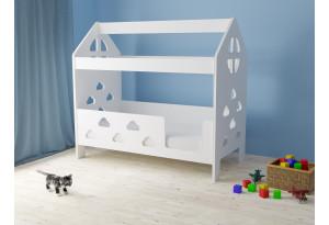 Кровать детская Домик ЛДСП Облачка