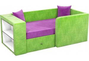 Детский диван Орнелла фиолетовый/зеленый (Микровельвет)