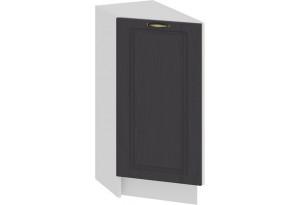 Шкаф напольный торцевой с одной дверью «Лина» (Белый/Графит)