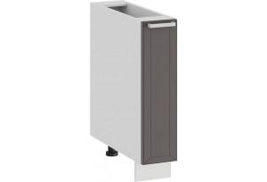 Шкаф напольный с выдвижной корзиной «Долорес» (Белый/Муссон)