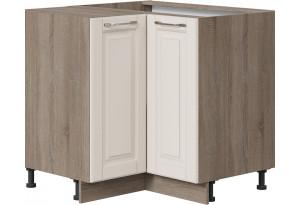 Шкаф напольный угловой с углом 90° (СКАЙ (Бежевый софт))