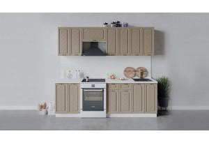 Кухонный гарнитур «Бьянка» длиной 240 см (Белый/Дуб кофе)
