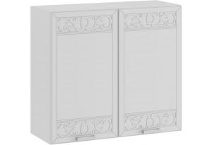 Шкаф навесной c двумя дверями «Долорес» (Белый/Сноу)