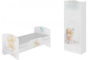 Набор детской мебели «Тедди» стандартный (Белый с рисунком)