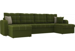П-образный диван Ливерпуль Зеленый (Микровельвет)