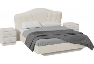 Спальный гарнитур «Сабрина» стандартный без шкафа (Кашемир)