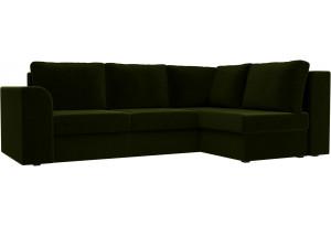 Угловой диван Пауэр Зеленый (Микровельвет)
