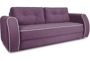 Диван «Хьюго» (Kolibri Violet (велюр) фиолетовый кант Kolibri Cream (велюр) кремовый)
