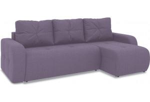Диван угловой правый «Томас Т1» (Neo 09 (рогожка) фиолетовый)