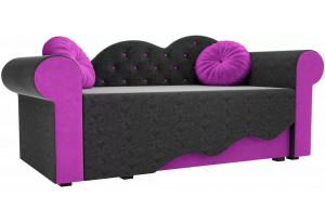 Детская кровать Тедди-2 черный/фиолетовый (Микровельвет)