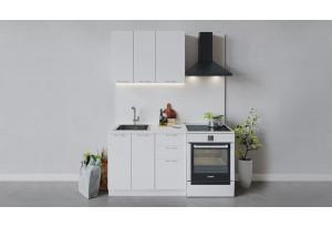 Кухонный гарнитур «Весна» длиной 100 см (Белый/Белый глянец)