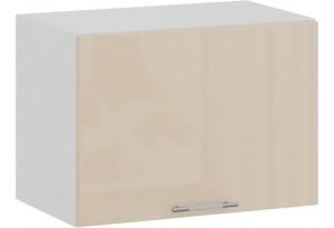 Шкаф навесной c одной откидной дверью «Весна» (Белый/Ваниль глянец)