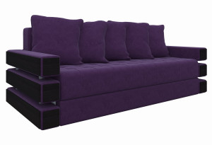 Диван прямой Венеция Фиолетовый (Микровельвет)