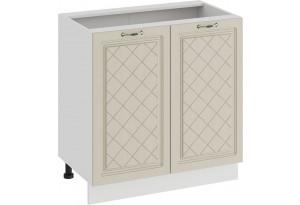 Шкаф напольный с двумя дверями «Бьянка» (Белый/Дуб ваниль)