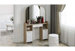 Стол туалетный «София Т2» Дуб сонома/Белый