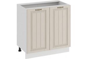 Шкаф напольный с двумя дверями «Лина» (Белый/Крем)