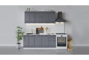 Кухонный гарнитур «Долорес» длиной 180 см (Белый/Титан)