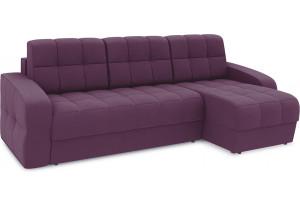 Диван угловой правый «Аспен Т1» (Kolibri Violet (велюр) фиолетовый)