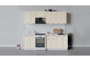 Кухонный гарнитур «Лина» длиной 240 см (Белый/Крем)